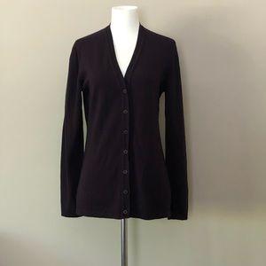HENRI BENDEL Italian Merino Wool Cardigan